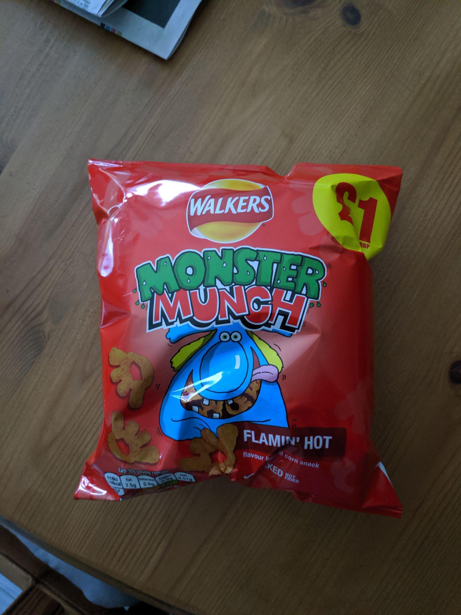 68g Flaming hot monster munch - 6 for £1 at Heron Foods (Halesowen)