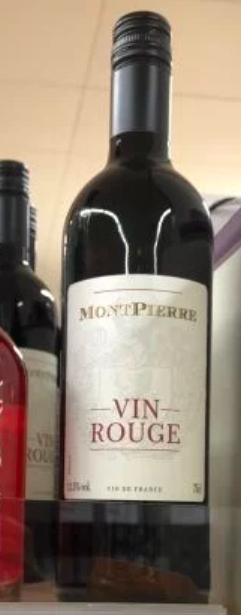 Montpierre vin de France rouge 75cl 12.5% ABV £2.98 @ Sainsbury's Lewisham