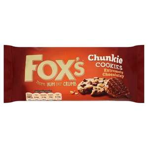 Fox's Extremely Milk Chocolate Chunkie Cookies 175G - 59p @ Heron Foods