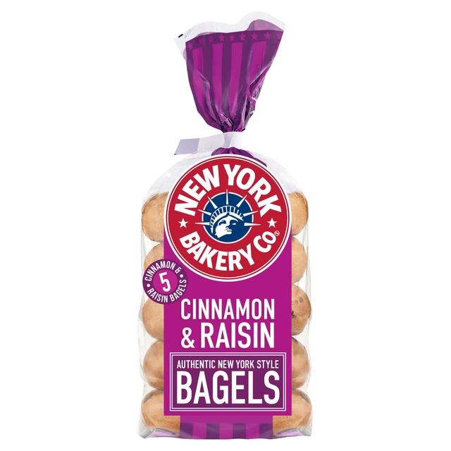 New York Bakery Bagels : Cinnamon & Raisin / Plain / Red Onion & Chive / Sesame £1 @ Morrisons
