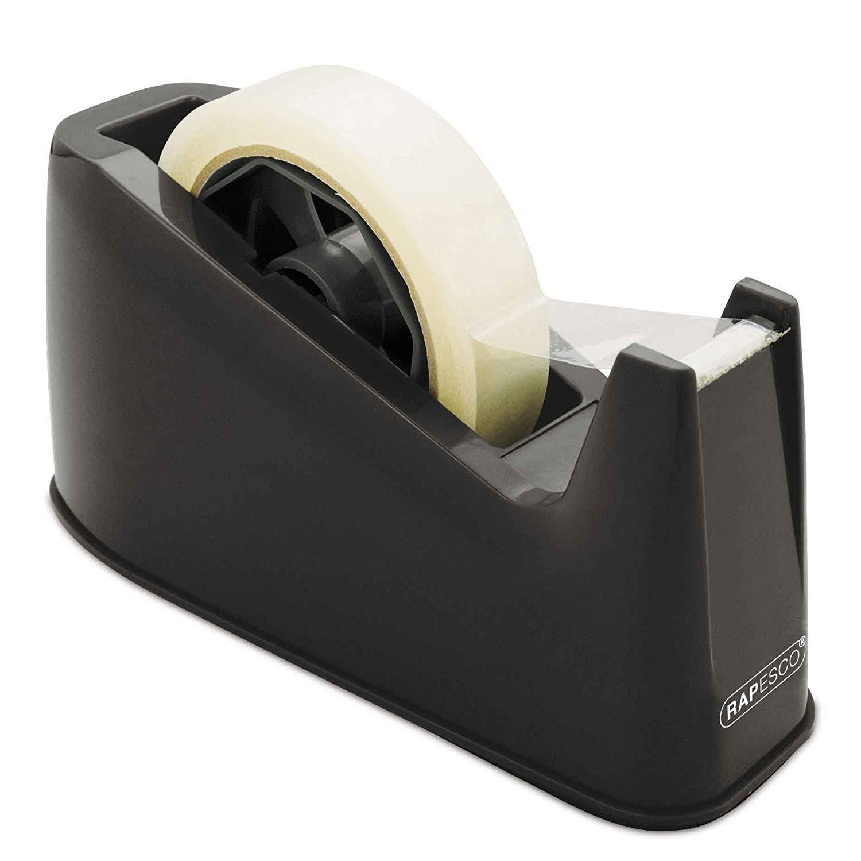 Rapesco Heavy Duty Tape Dispenser, Tape Rolls up to 25 mm x 66 m - Black, £3.59 at Amazon (+£4.49 non prime)