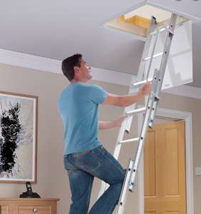 Werner Aluminium Loft Ladder 3 Section with Slip-resistant D rungs - £54.98 delivered @ Toolstation
