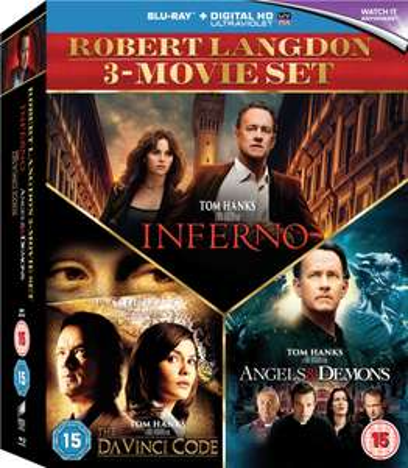 Inferno / Angels & Demons / The Da Vinci Code Box Set (Blu-ray) - £4.99 Delivered with code @ Zavvi
