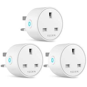 Teckin Mini Smart Plugs - 3 Pack (+4.49 Non-Prime) £23.98 Sold by BABAN EU and Fulfilled by Amazon.