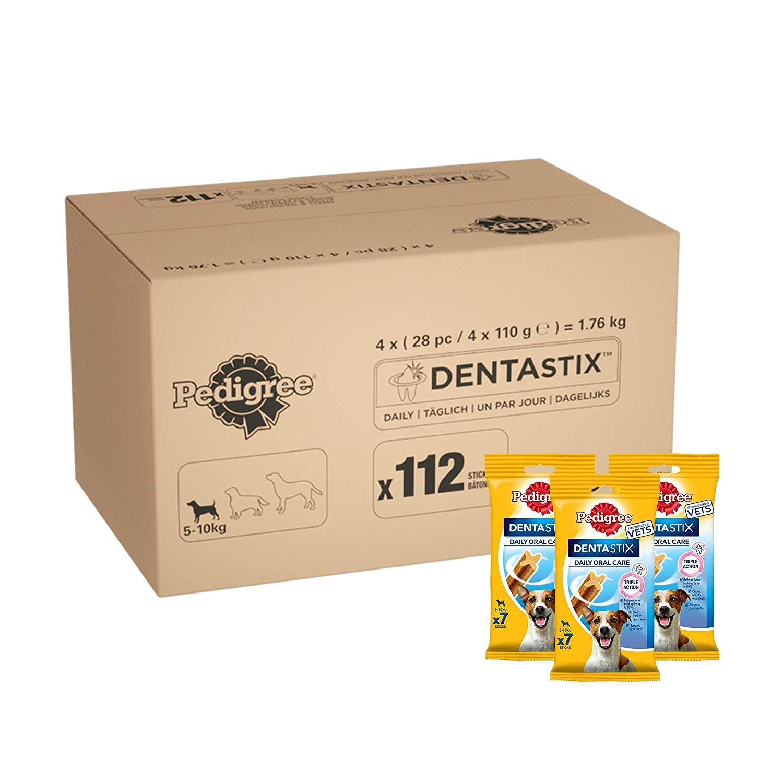 Pedigree Dentastix - Daily Dental Care Chew Small Dog Treats 1 box (112 Sticks) £12.79 / Med £13.99/ Large Dog £15.69 (+£4.49 np) at Amazon