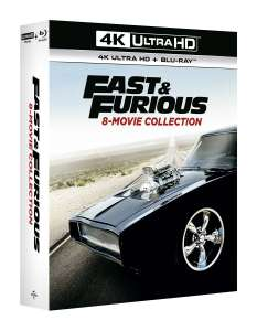 Fast and furious 8 movie collection 4k UHD + blu ray £49.99 @ zoom
