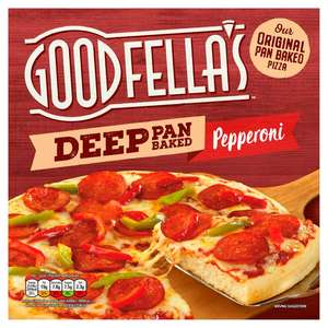 Goodfellas Deep Pan Loaded Pepperoni OR Deep Pan Loaded Cheese Pizza , Now £1.25 @ Sainsbury's