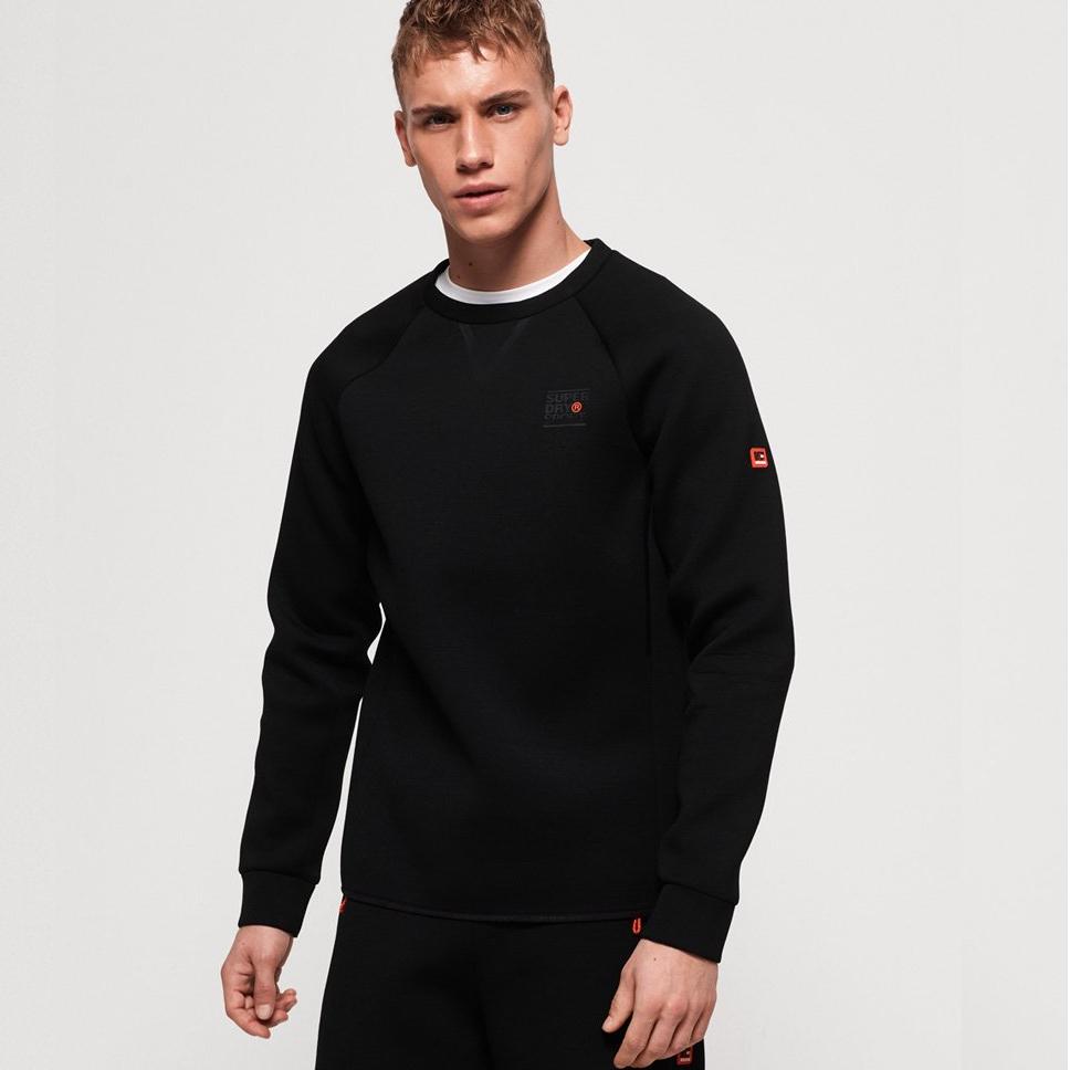 Superdry Mens Gym Tech Stretch Crew Neck Sweatshirt £15.99 delivered with code @ eBay / Superdry