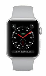 Apple Watch Series 3 38mm Silver Alu Case With White Sport Band (GPS) MTEY2B/A Like New - £110 @ gbmdigital ebay