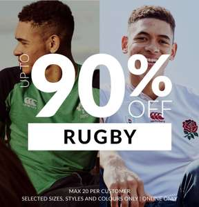 Up to 90% off + (20% off with code) rugby - -Some jerseys are £6 @ sportsdirect + £4.99 delivery