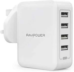 RAVPower 40W Charger With iSmart 2.0 - £8.99 Prime / £13.48 Sold by Sunvalleytek-UK and Fulfilled by Amazon