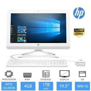 """HP 20-c400na 19.5"""" Full HD All-in-One PC (Intel Dual Core 4GB RAM 1TB HDD) Refurb £207.99 Delivered using code @ eBay / Laptop Outlet"""