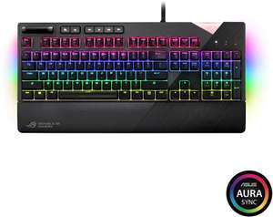 ASUS ROG Strix Flare RGB Mechanical Gaming Keyboard Cherry MX Red with USB Pass Through, Underglow and Aura Sync - £79.99 delivered @ Game