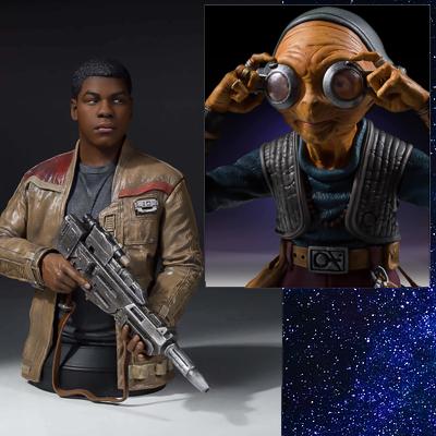Gentle Giant Star Wars Force Awakens Finn 1/6 Mini Bust - 17cm - £21.98 / Maz Kanata 1/6 Mini Bust - 14cm - £17.98 Delivered @ Zavvi