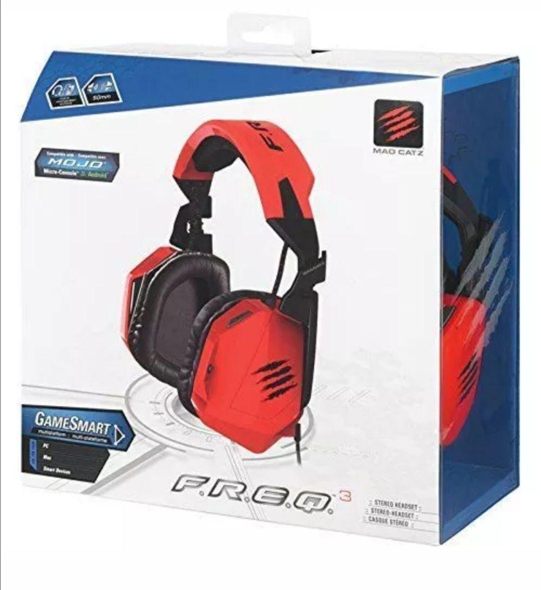 Mad Catz F.R.E.Q.3 3.5mm Stereo Headset Red PC Brand New Sealed £8.02 @ G2gltd Ebay