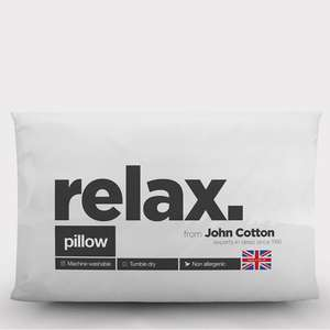 6 Pack of Relax Hollowfibre Pillows From John Cotton £13.99 / Poss £13.15 Using Code @ Groupon