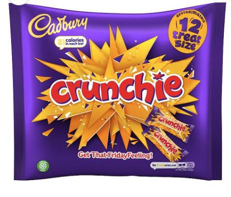 Cadbury treat size Crunchie & Heroes chocolates £1.19 farmfoods