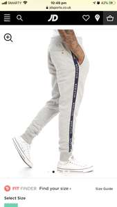 Tommy Hilfiger Side Tape Pants - £10 @ JD Sports (+£1 Click & Collect)