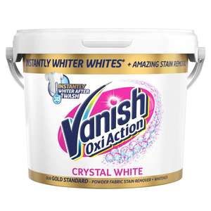 Vanish Gold Fabric Stain Remover Oxi Action Powder, Whites - 2.4kg £10.99 @Amazon
