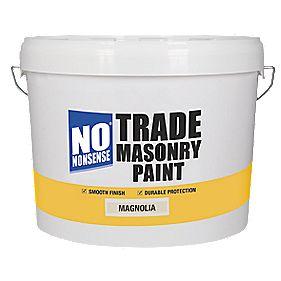 No Nonsense Trade Masonry Paint Magnolia 10LTR £14.99 at Screwfix