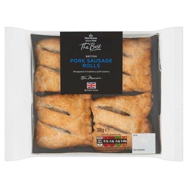 Morrison's 4 Pork Sausage Rolls, now £1.25 at Morrisons Hull