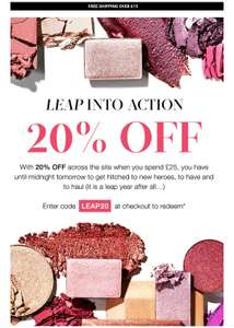 20% off order £25+ at Cult Beauty