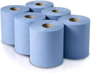 6 x Embossed Blue Hand Centre Feed 2 Ply Paper Towels 80m Per Roll Free Delivery £7.90 @ kashwholesaleltd eBay