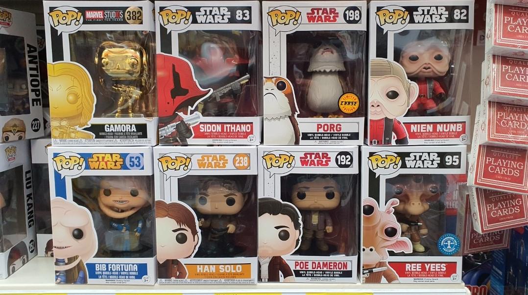 Star Wars / Marvel / DC / Capcom / Harry Potter / Mortal Kimbat POP figures £4.99 @ B&M Crawley