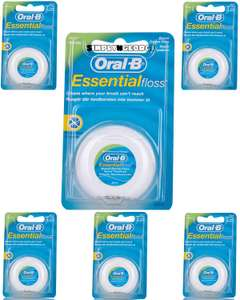 Oral-B Essential Waxed Mint Floss, 50 m, Pack of 6 £5.68 Sold by DLM Direct and Fulfilled by Amazon