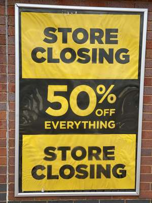 Cclosing down sale at DW Sports Manchester