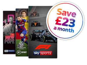 Sky TV with Sky Sports and BT Sports - £47 a month