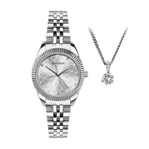 Sekonda Editions Silver Tone Watch & Pendant Set - £19.99 with any purchase @ H Samuel + £2.95 delivery / free over £49