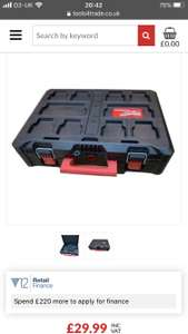 Milwaukee 4932464080 Packout Box 3 Toolbox Storage System without Tray - £29.99 / £33.98 delivered @ Tools4Trade