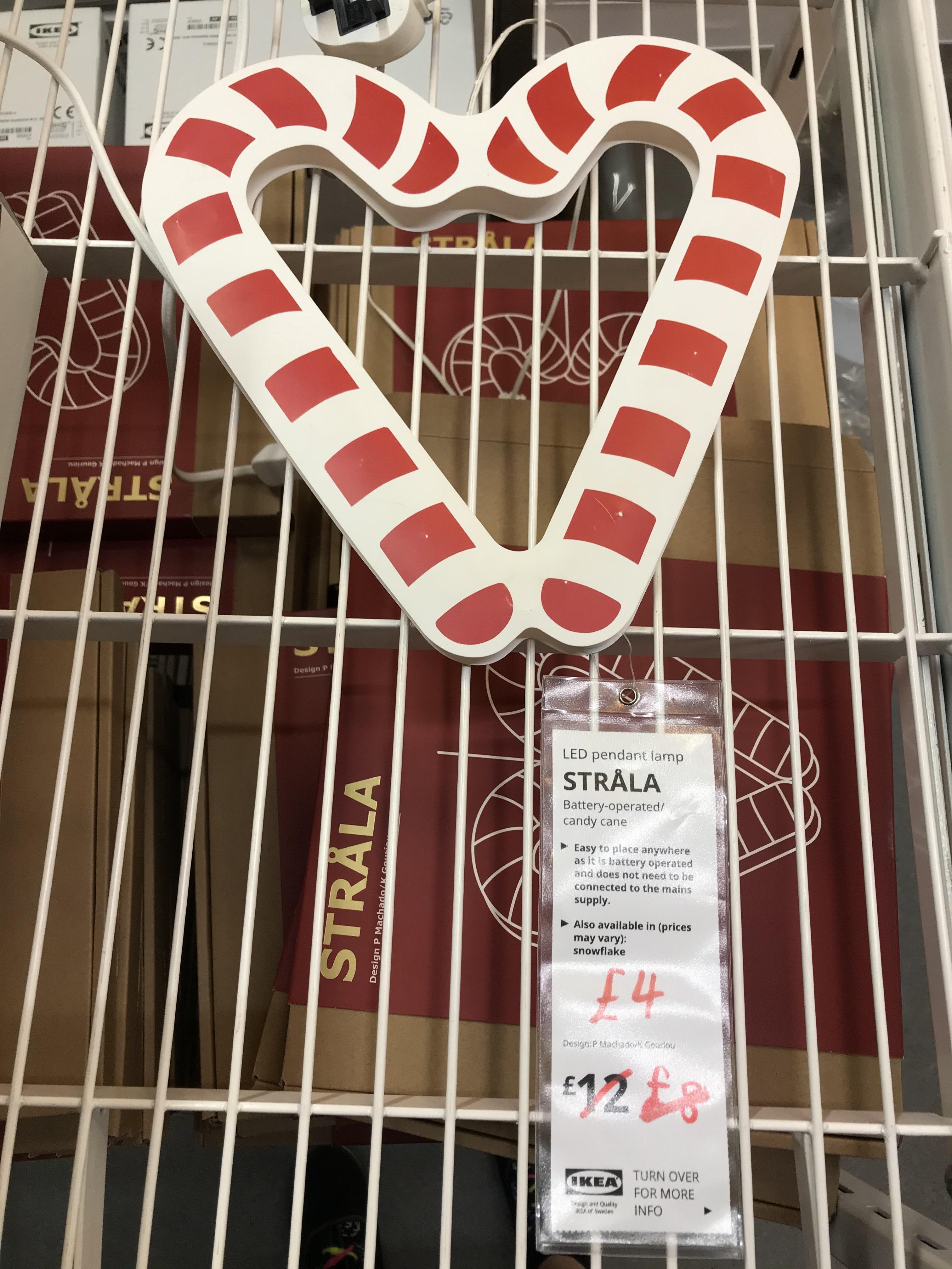 Strala LED Candy Cane Lamp @ IKEA Leeds
