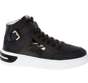 GEOX Black Leather High Top Trainers sizes 4/7/7.5 £29.99 + £1.99 Click & Collect @ TK Maxx