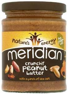 Meridian Natural Crunchy Peanut Butter - No Added Sugar 280 g (Pack of 6) £6 (+ £4.49 Non Prime) @ Amazon
