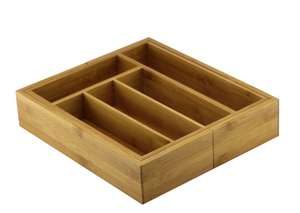 Cooke & Lewis Harwick Bamboo Adjustable Cutlery tray - £2 + Free Click & Collect @ B&Q