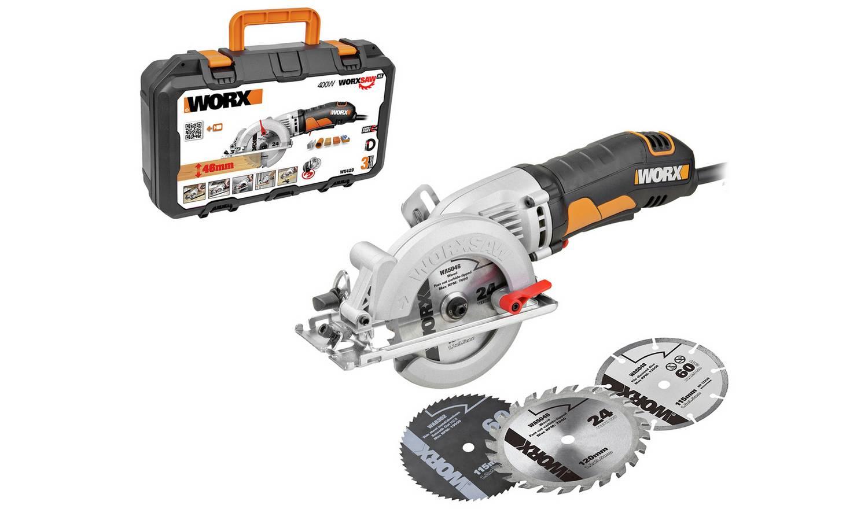WORX WX429 Mini Saw with 3 Blades (400W) £60 @ Argos