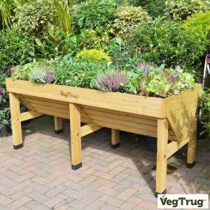 VegTrug Medium 1.8m Planter + Greenhouse Frame + Cover in Grey or Natural + Free delivery £139.89 @ Costco