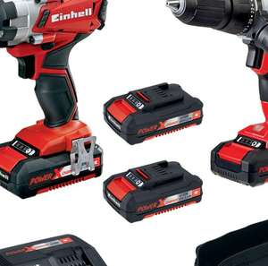 Einhell Power X-Change 18V 2x 1.5Ah Li-Ion Cordless Impact Driver & Combi Drill Kit £98.75 delivered @CPC