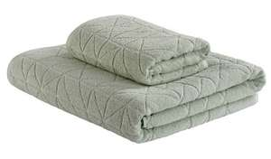 Textured Seafoam Towel Set : 1 Bath Sheet & 1 Hand Towel , Now £6.30 +Free Click & Collect @ Argos