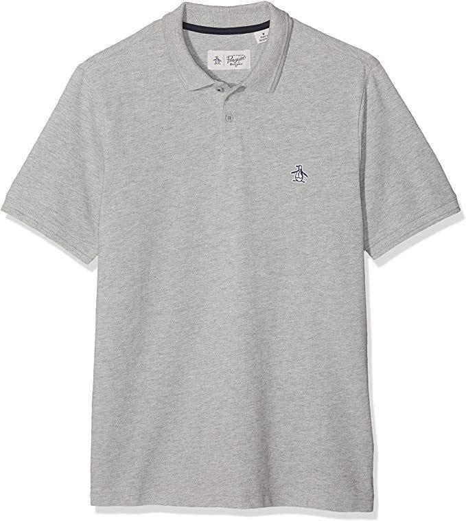 Original Penguin Men's Raised Ribbed Polo Shirt - Grey - Medium - £11.74 (Prime) - Amazon