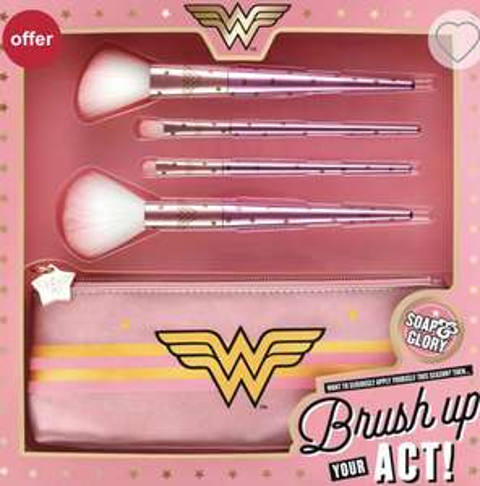 Soap & Glory Wonder Woman Brush Up Your Act Brush Set £7 @ Boots Shop