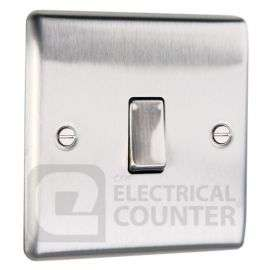 Brushed Stainless Steel Light Switch Plate - Single 1 Gang 2 Way £3.14 Delivered @ Electrical counter