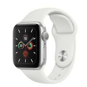 Apple Watch Series 5 40mm Silver Aluminium Case - White Sport Band - Opened – never used gbmdigital eBay