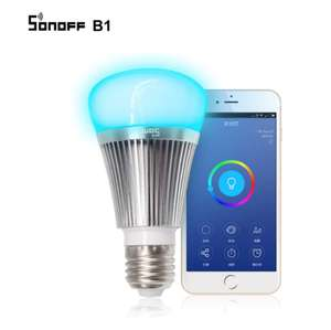 Sonoff B1 Smart Wifi Lamp E27 Dimmable Colorful LED Lamp RGB Color Light APP WIFI Remote Control Via IOS Android £12.52 aliexpress / SONOFF