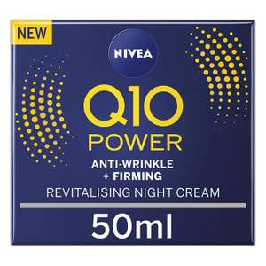 NIVEA Q10 Power Anti-Wrinkle + Firming Night Cream 50ml + Creatine & Q10 £5.45/£3.80 (25% Off 1st S&S) + £4.49 Non-Prime @ Amazon