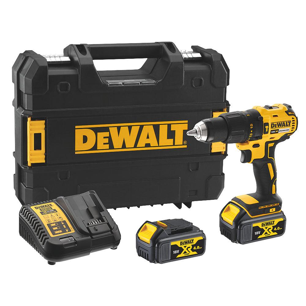 DEWALT DCD778M2T-SFGB 18V 4.0AH LI-ION XR Brushless Cordless Combi Drill - £149.99 with Free Click & Collect @ Screwfix