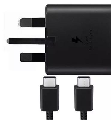Samsung Galaxy 25W 3A USB-C Fast Charging Adaptor + USB-C Cable - Black FFP - £17.99 @ MyMemory