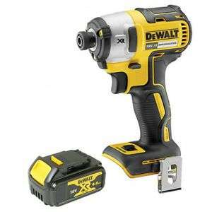Dewalt DCF887N 18V Brushless Impact Driver with 1 x 4.0Ah DCB182 Battery £106.99 Sold by Amazon